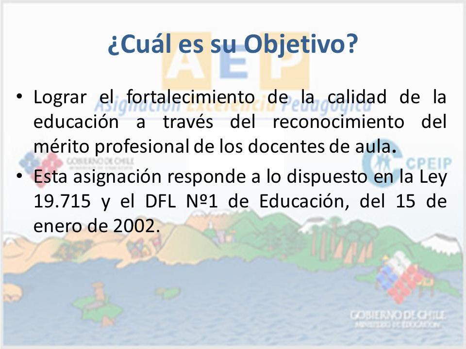 ¿Cuál es su Objetivo? Lograr el fortalecimiento de la calidad de la educación a través del reconocimiento del mérito profesional de los docentes de au