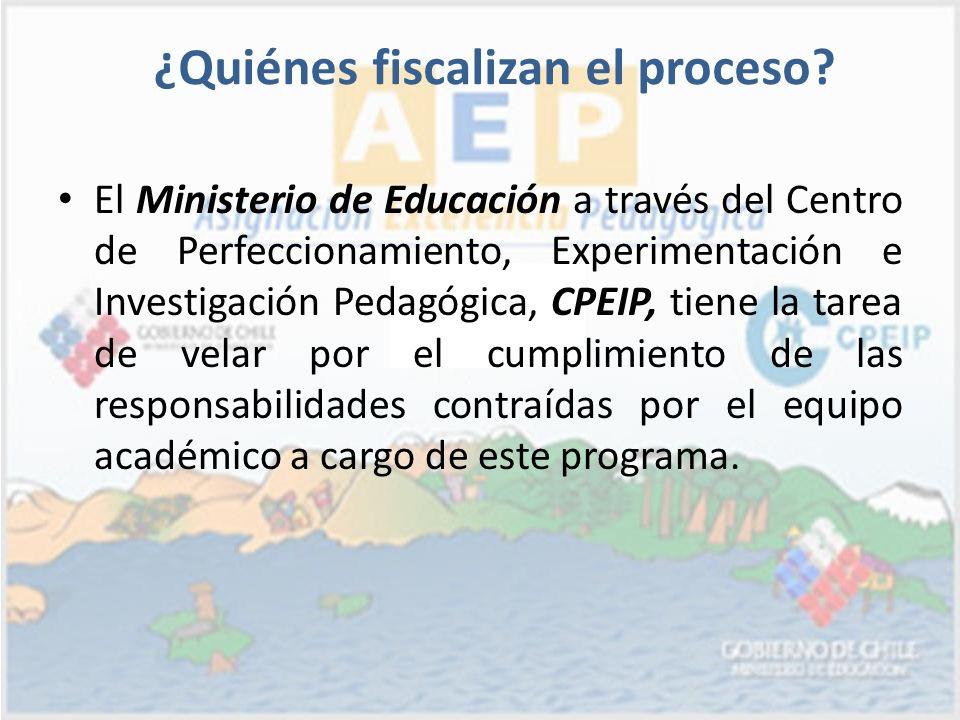 El Ministerio de Educación a través del Centro de Perfeccionamiento, Experimentación e Investigación Pedagógica, CPEIP, tiene la tarea de velar por el