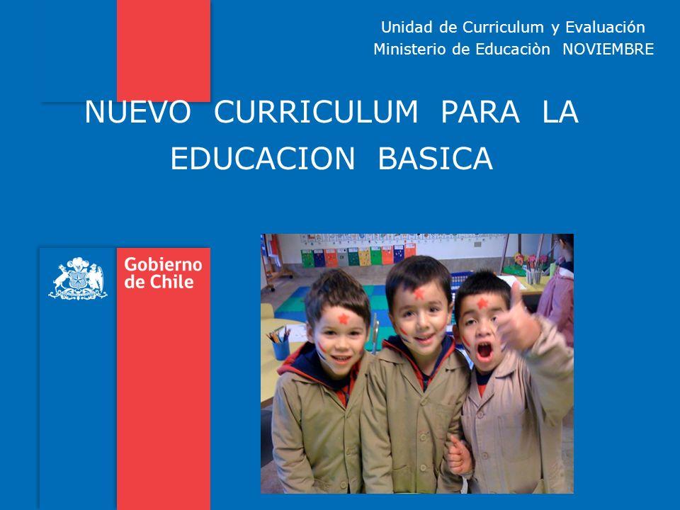 NUEVO CURRICULUM PARA LA EDUCACION BASICA Unidad de Curriculum y Evaluación Ministerio de Educaciòn NOVIEMBRE
