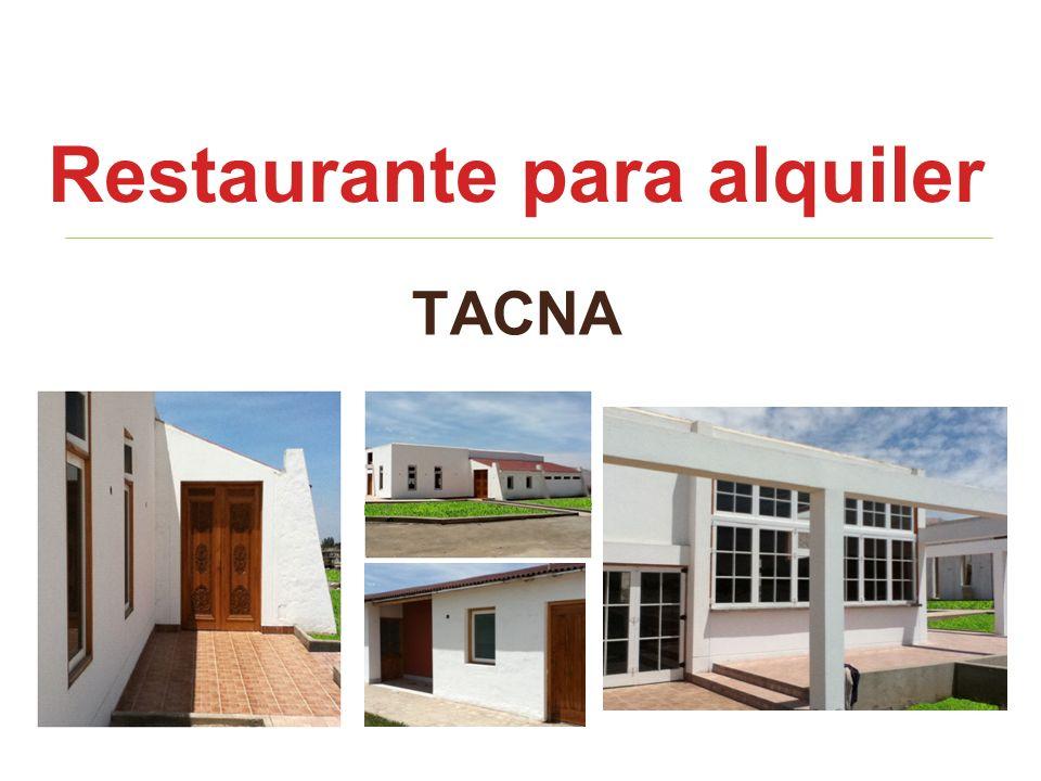 TACNA Restaurante para alquiler