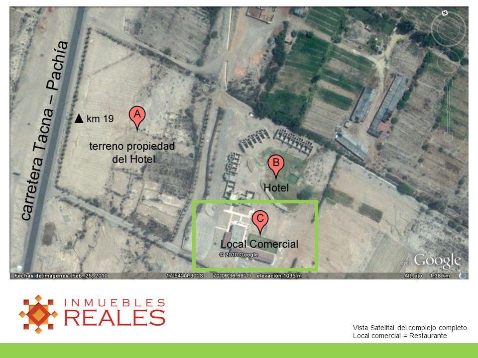 Vista Satelital del complejo completo. Local comercial = Restaurante