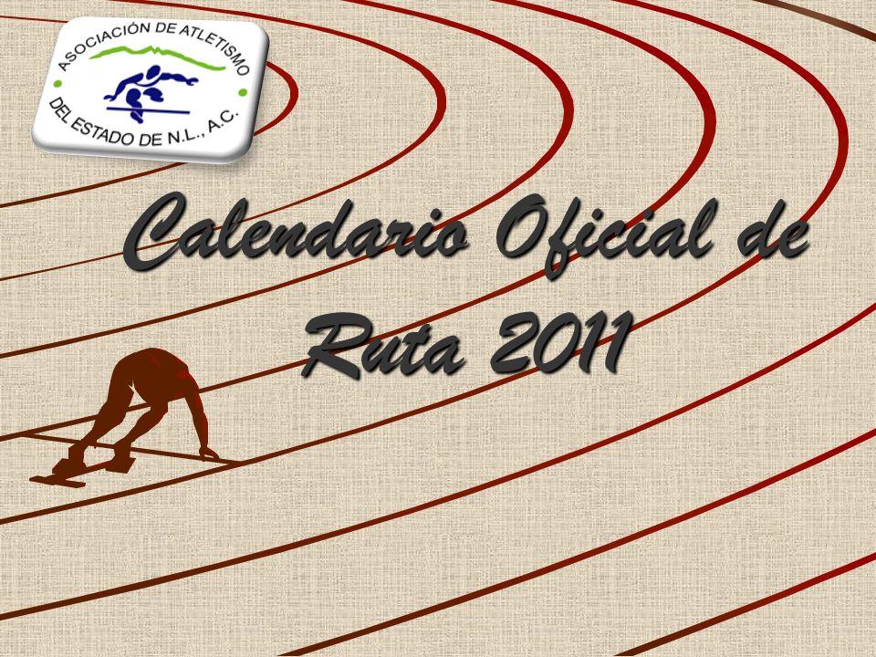 Calendario Oficial de Ruta 2011