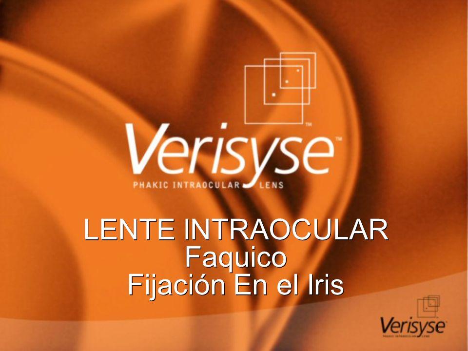 1 LENTE INTRAOCULAR Faquico Fijación En el Iris LENTE INTRAOCULAR Faquico Fijación En el Iris