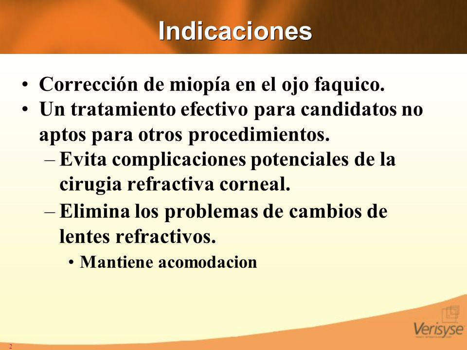 13 Astigmatismo Inducido Tamaño Incicion : 5.2 a 6.2 mm Reduccion en unos casos por selecion de la incision.