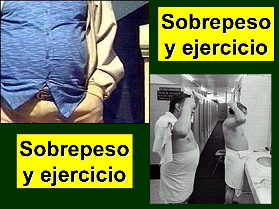 Sobrepeso y ejercicio Sobrepeso