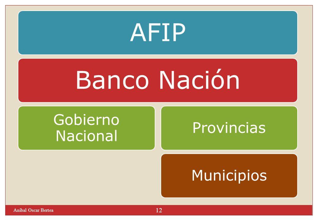 Aníbal Oscar Bertea 12 AFIPBanco Nación Gobierno Nacional ProvinciasMunicipios