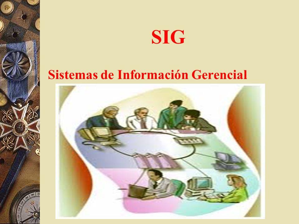 SIG Sistemas de Información Gerencial