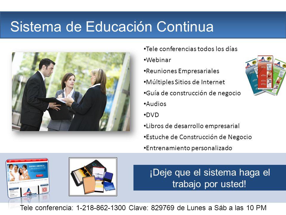 The Company Sistema de Educación Continua Tele conferencias todos los días Webinar Reuniones Empresariales Múltiples Sitios de Internet Guía de constr