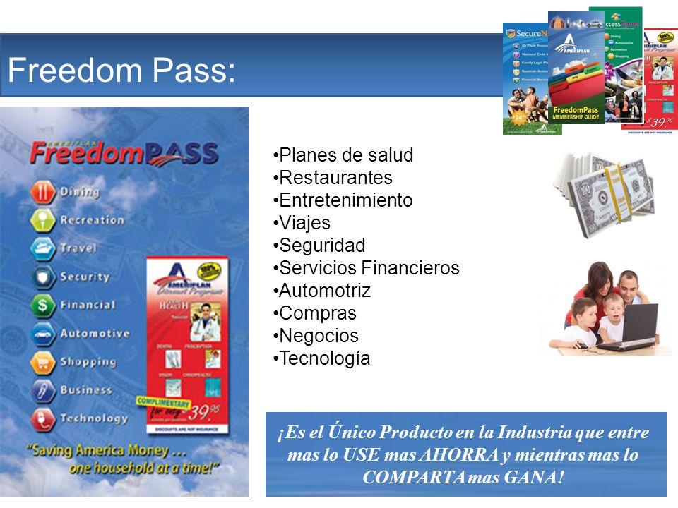 The Company Freedom Pass: Planes de salud Restaurantes Entretenimiento Viajes Seguridad Servicios Financieros Automotriz Compras Negocios Tecnología ¡