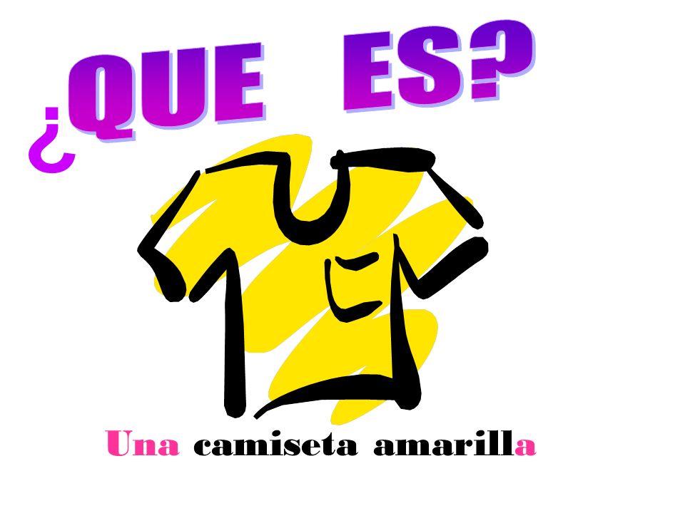 Una camiseta amarilla ¿