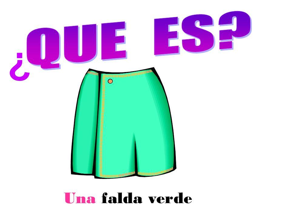 Una falda verde ¿