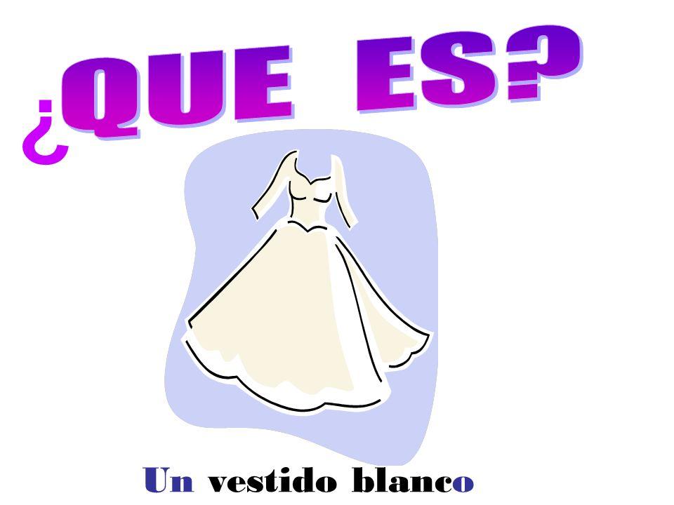 Un vestido blanco ¿