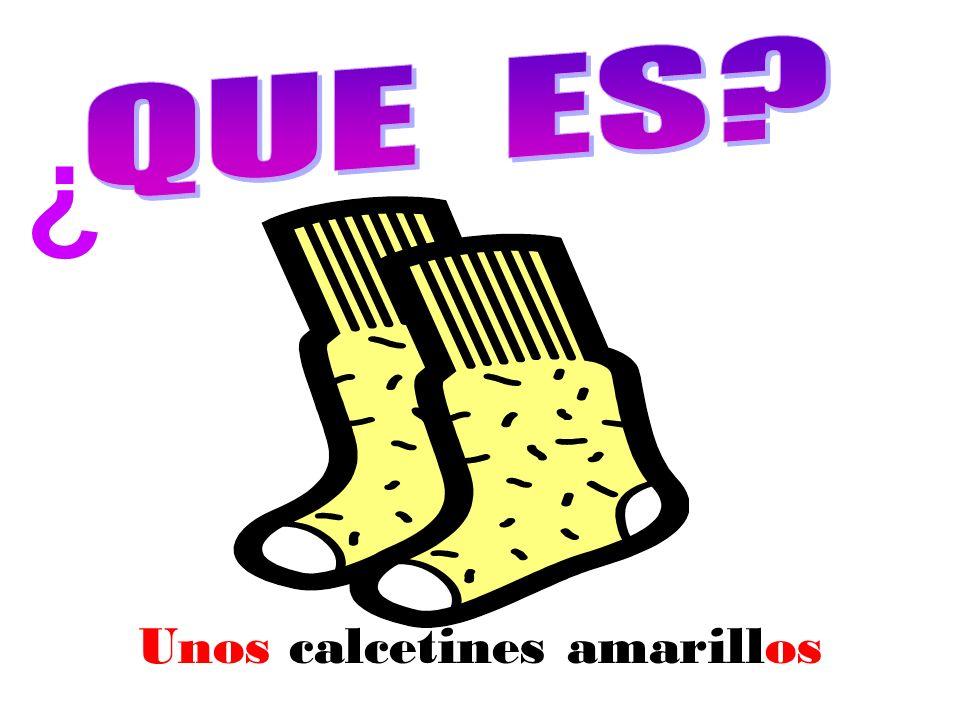 Unos calcetines amarillos ¿