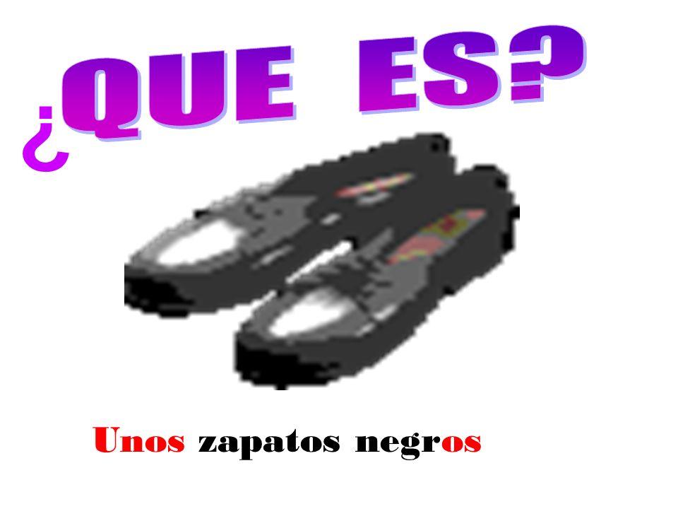 Unos zapatos negros ¿