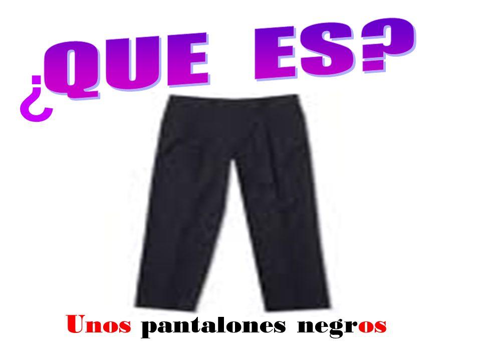 Unos pantalones negros ¿