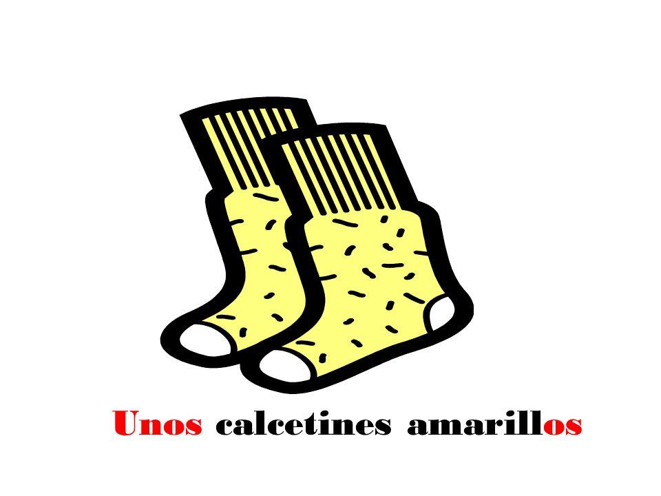 Unos calcetines amarillos