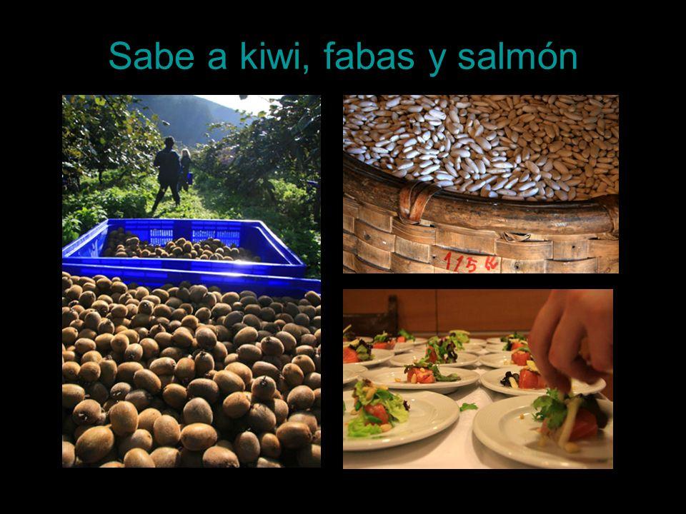 Sabe a kiwi, fabas y salmón