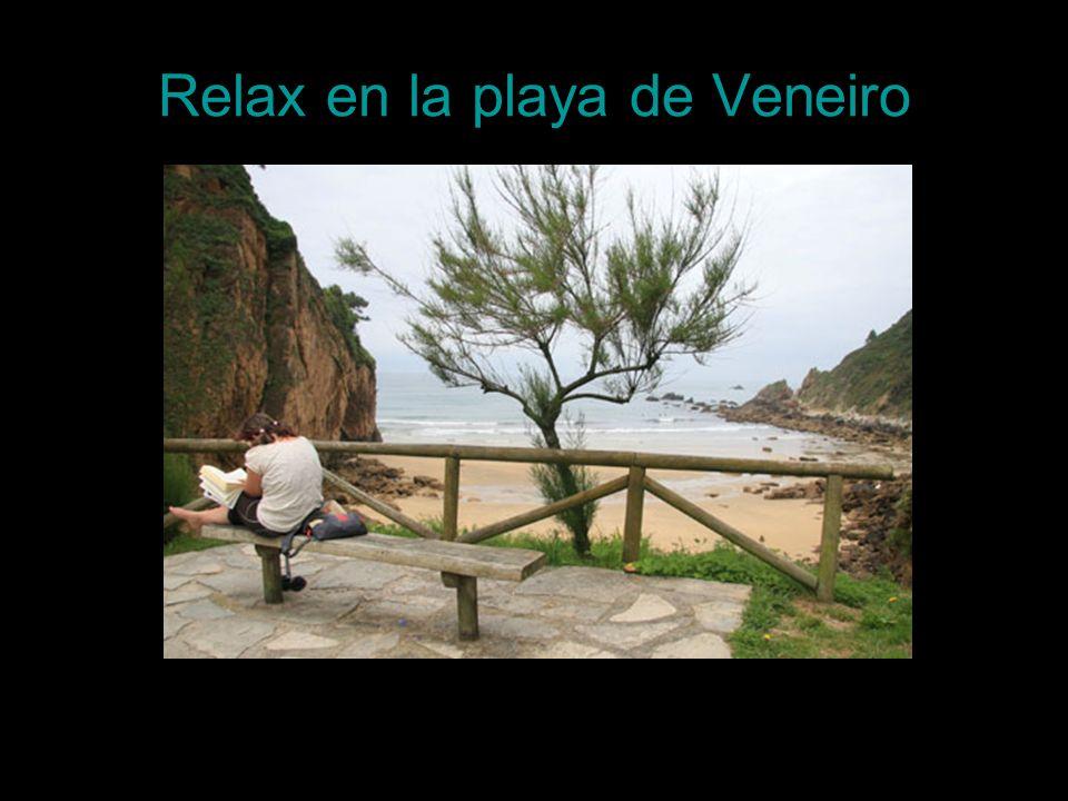 Relax en la playa de Veneiro