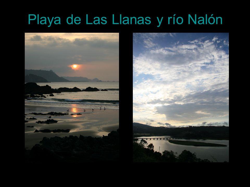 Playa de Las Llanas y río Nalón
