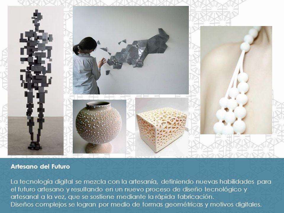 Sentidos Agudizados Los motivos digitales pixelados crean nuevas superficies virtuales dimensionales; los diseños digitalizados se incorporan para connotar un estilo digital.