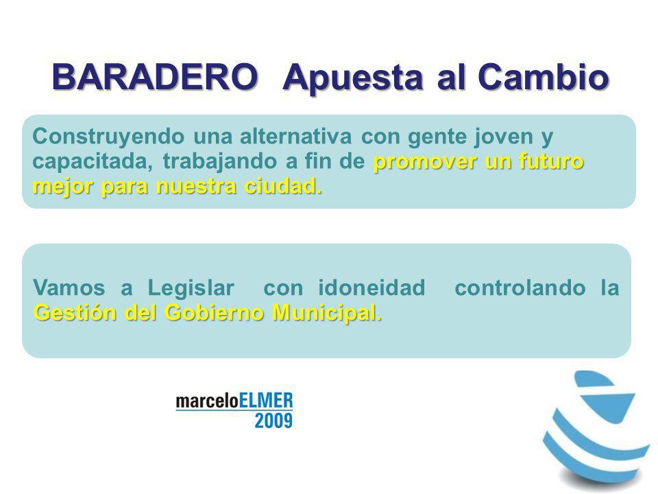 BARADERO Apuesta al Cambio promover un futuro mejor para nuestra ciudad.