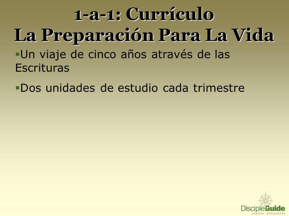 1-a-1: Currículo La Preparación Para La Vida Un viaje de cinco años através de las Escrituras Dos unidades de estudio cada trimestre
