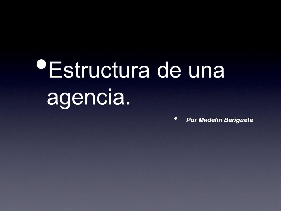 Estructura de una agencia. Por Madelin Beriguete