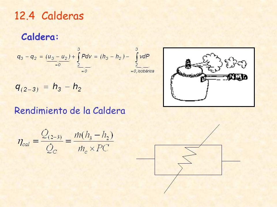12.4 Calderas Caldera: Rendimiento de la Caldera