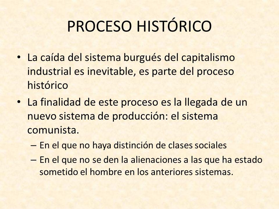 Advenimiento del sistema comunista Constará de tres etapas: la revolución La dictadura del proletariado La sociedad comunista