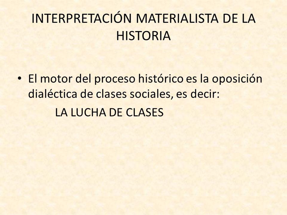 Se da entre: – La clase dominante ( posee los MEDIOS de producción) – La clase dominada (tan solo posee su fuerza de trabajo y habilidad) (La propiedad privada es el origen de la desigualdad) influencia de Rousseau.