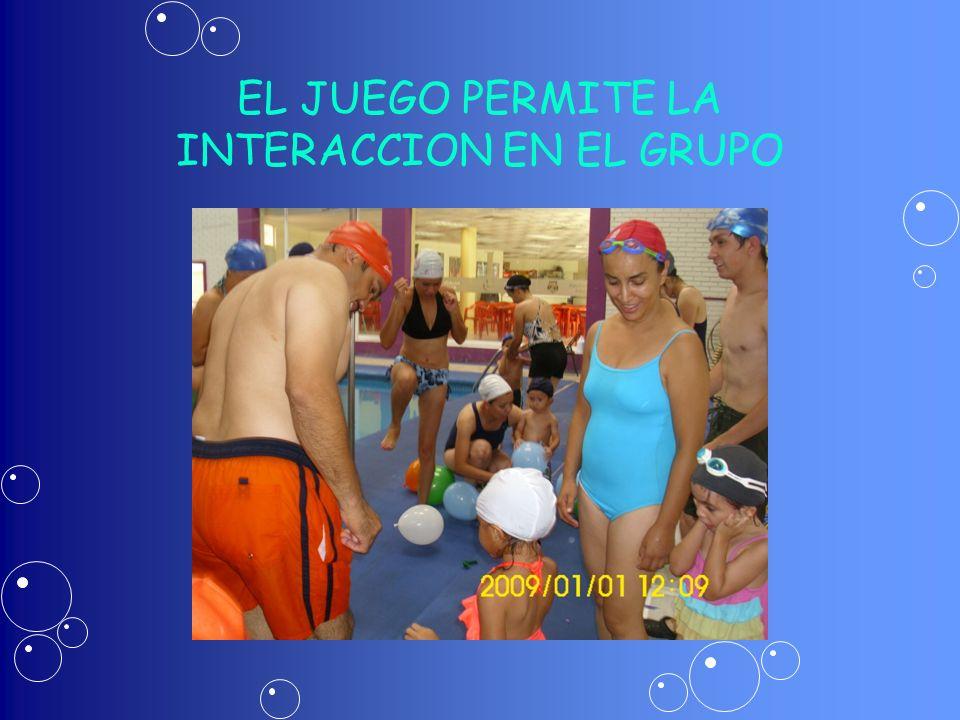 EL JUEGO PERMITE LA INTERACCION EN EL GRUPO