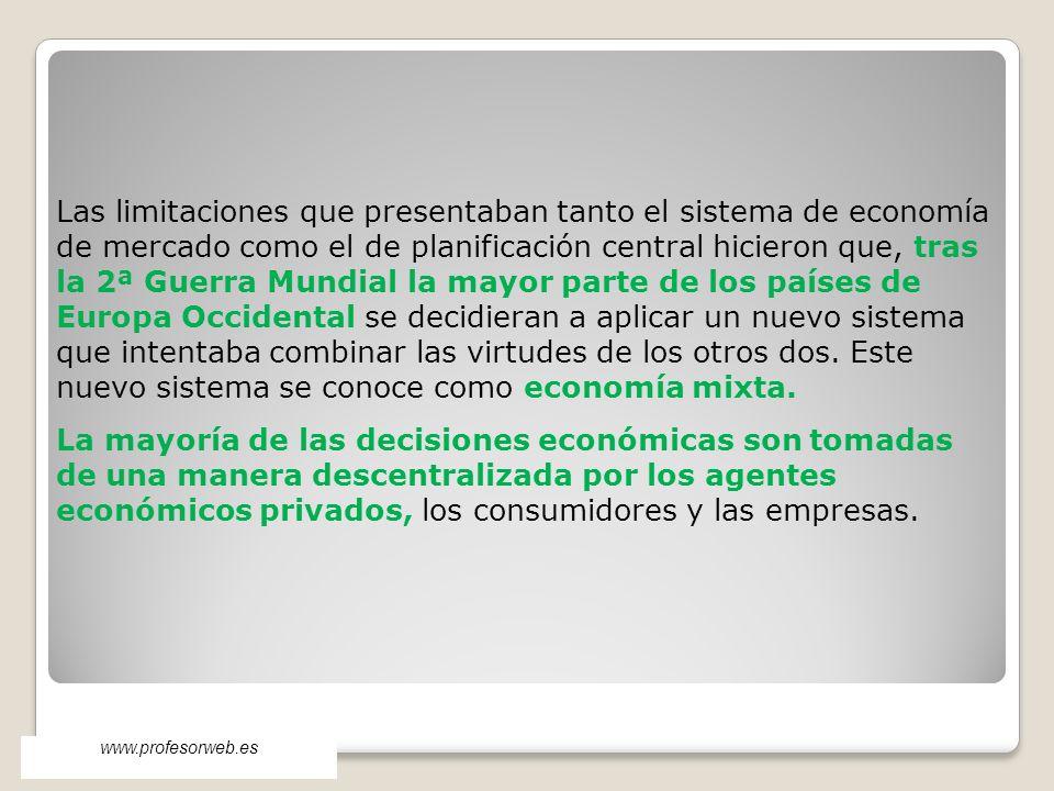 Las limitaciones que presentaban tanto el sistema de economía de mercado como el de planificación central hicieron que, tras la 2ª Guerra Mundial la m