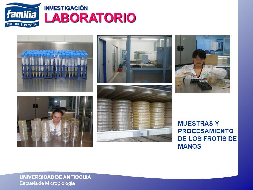 UNIVERSIDAD DE ANTIOQUIA Escuela de Microbiología 62.4% De los individuos presentaron más cantidad de bacterias después de lavarse las manos y NO UTILIZARON NINGUN INSTRUMENTO DE SECADO SIN NINGUN INSTRUMENTO AUMENTO DE BACTERIAS