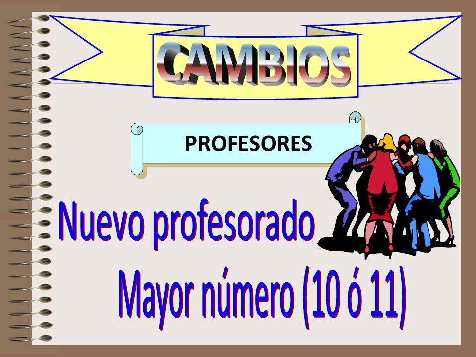 CAMBIOS profesores PROFESORES