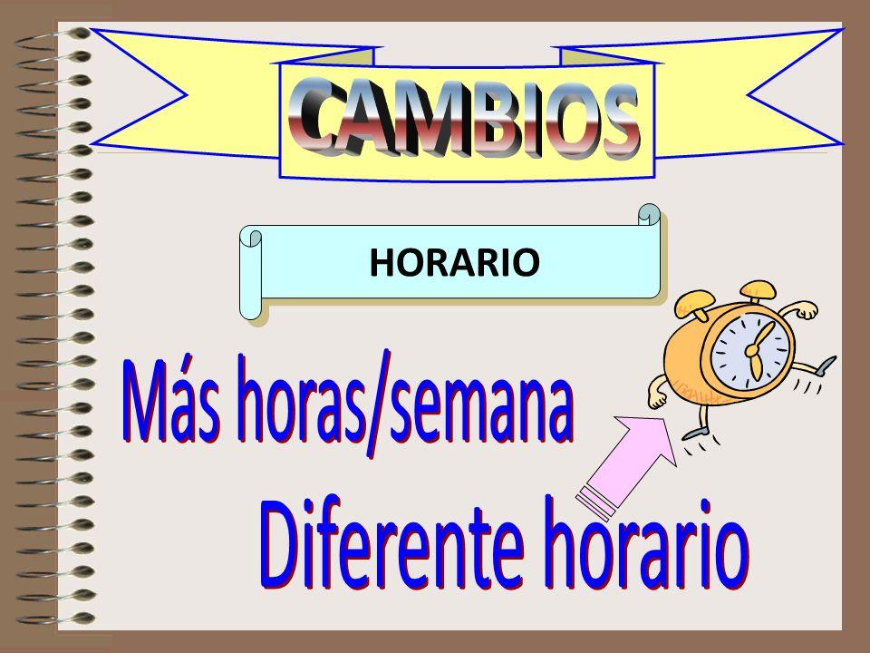 CAMBIOS horario HORARIO