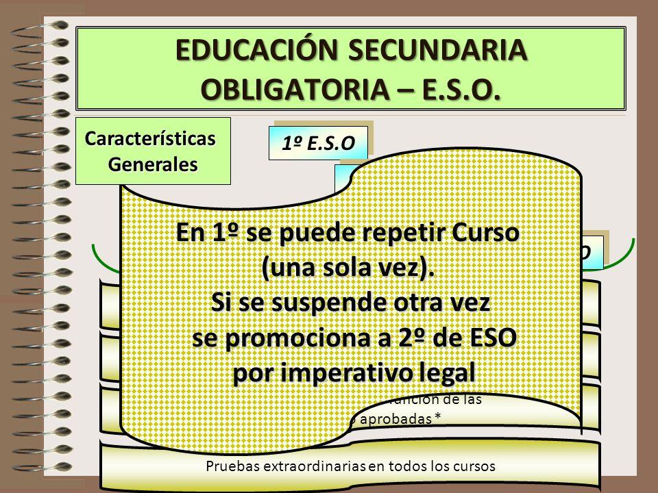 CaracterísticasGenerales EDUCACIÓN SECUNDARIA OBLIGATORIA – E.S.O.