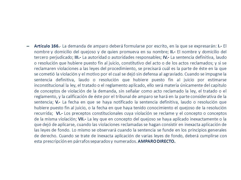 – COMPARECENCIA.Artículos 117 Ley de Amparo.