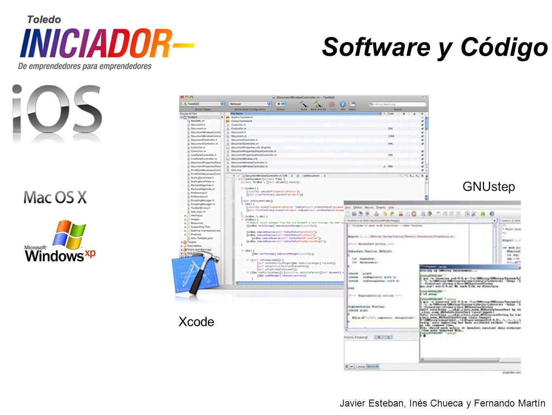 Javier Esteban, Inés Chueca y Fernando Martín Software y Código Xcode GNUstep