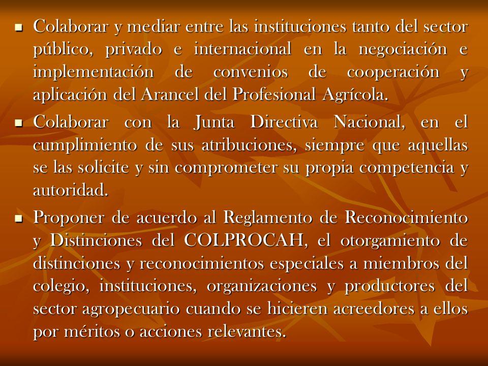 Colaborar y mediar entre las instituciones tanto del sector público, privado e internacional en la negociación e implementación de convenios de cooper