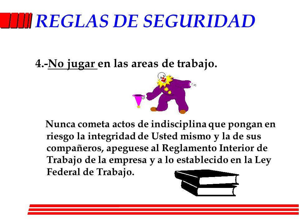 REGLAS DE SEGURIDAD 15.-Manejo de montacargas por personal autorizado.