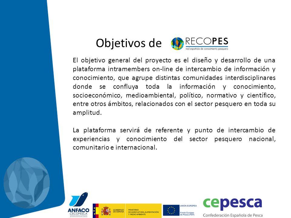 Objetivos de El objetivo general del proyecto es el diseño y desarrollo de una plataforma intramembers on-line de intercambio de información y conocim
