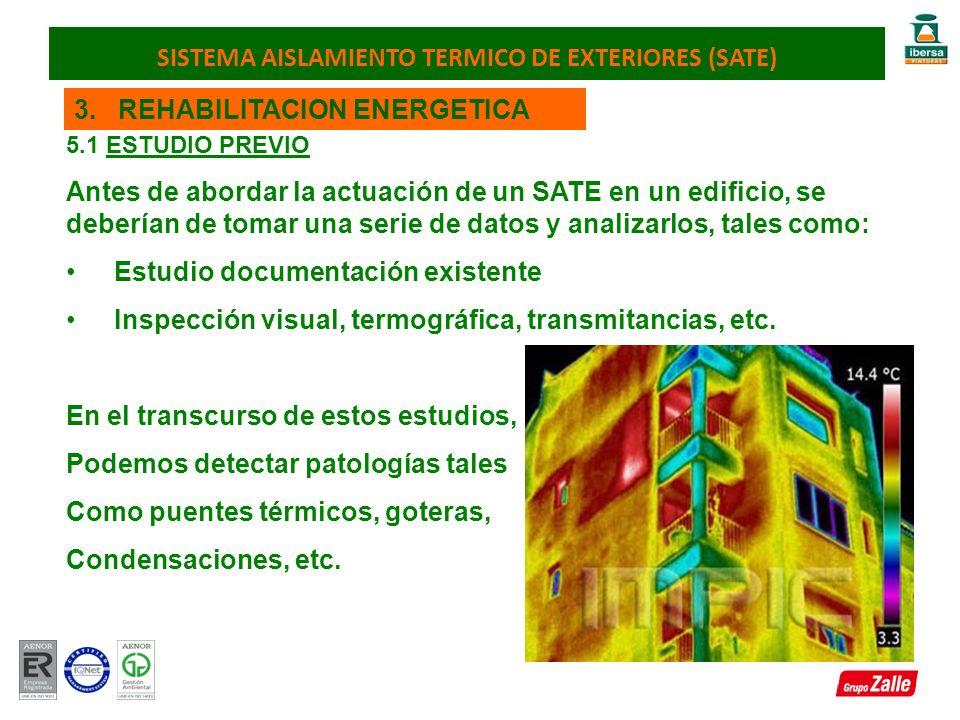 3. REHABILITACION ENERGETICA 5.1 ESTUDIO PREVIO Antes de abordar la actuación de un SATE en un edificio, se deberían de tomar una serie de datos y ana