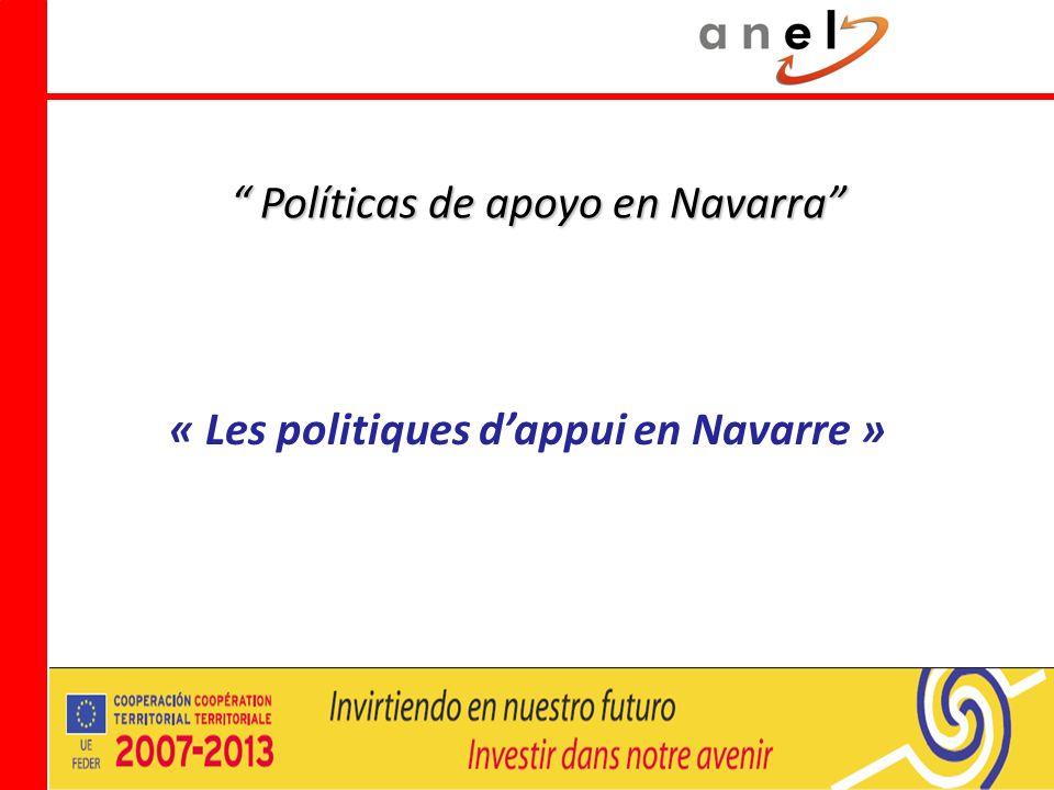 Políticas de apoyo en Navarra Políticas de apoyo en Navarra « Les politiques dappui en Navarre »