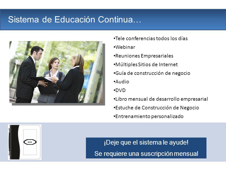 The Company Sistema de Educación Continua… Tele conferencias todos los días Webinar Reuniones Empresariales Múltiples Sitios de Internet Guía de const