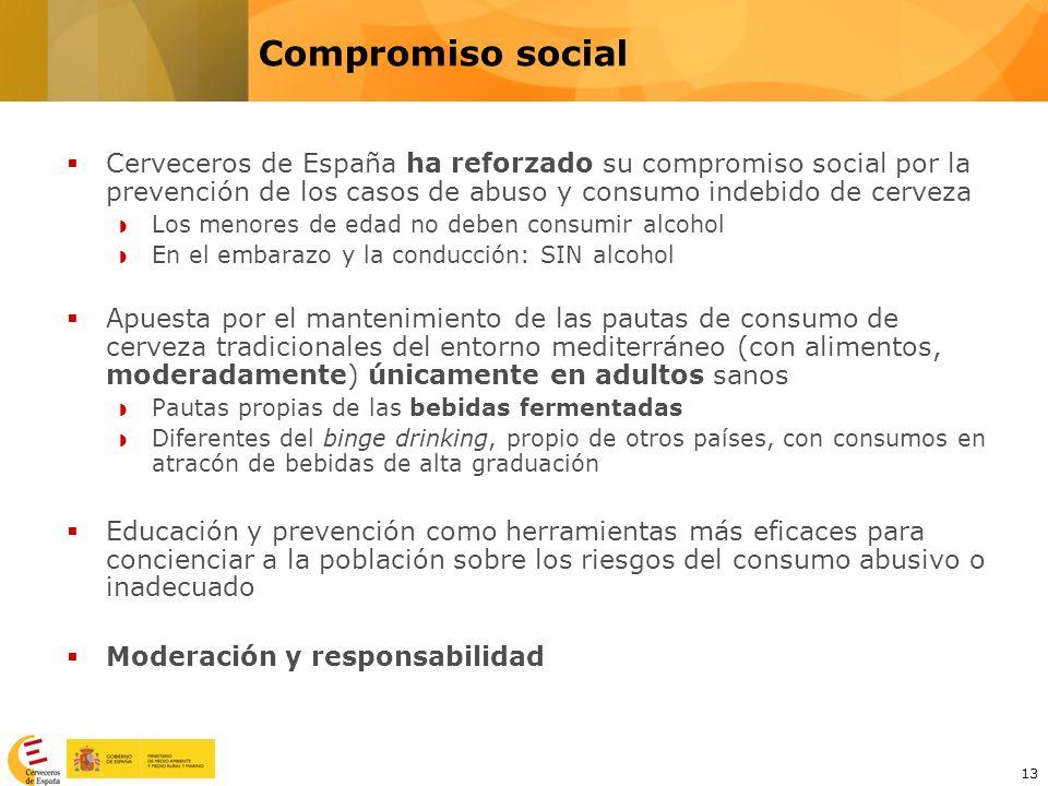 13 Cerveceros de España ha reforzado su compromiso social por la prevención de los casos de abuso y consumo indebido de cerveza Los menores de edad no