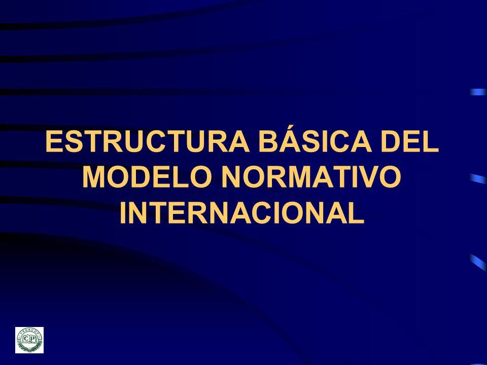 ESTRUCTURA BÁSICA DEL MODELO NORMATIVO INTERNACIONAL