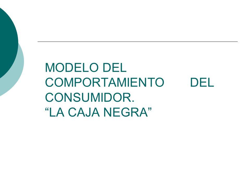 MODELO DEL COMPORTAMIENTO DEL CONSUMIDOR. LA CAJA NEGRA
