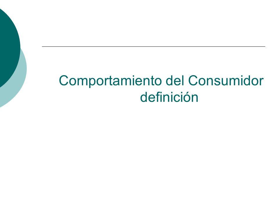 Comportamiento del Consumidor definición