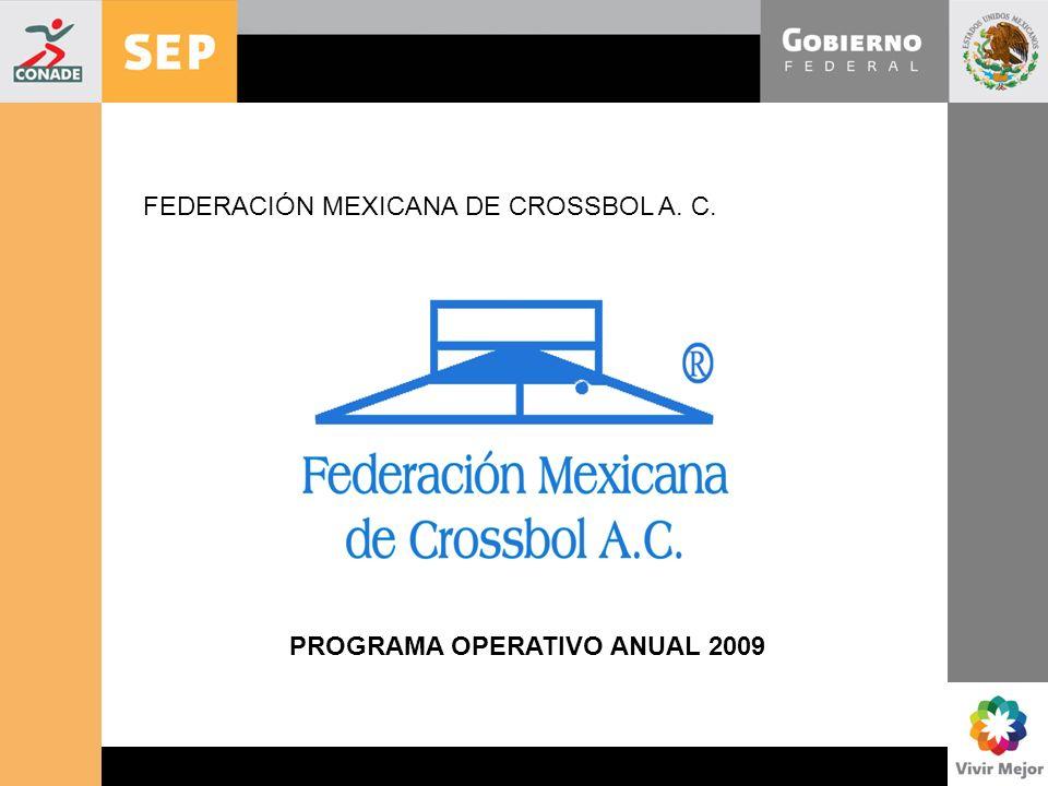 www.conade.gob.mx Comité Nacional Antidopaje FEDERACIÓN MEXICANA DE CROSSBOL A. C. PROGRAMA OPERATIVO ANUAL 2009