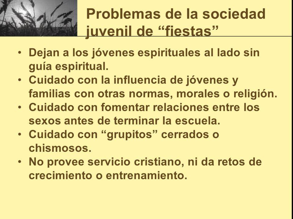 Problemas de la sociedad juvenil de fiestas Dejan a los jóvenes espirituales al lado sin guía espiritual. Cuidado con la influencia de jóvenes y famil